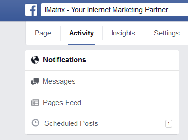 Notifications on Facebook