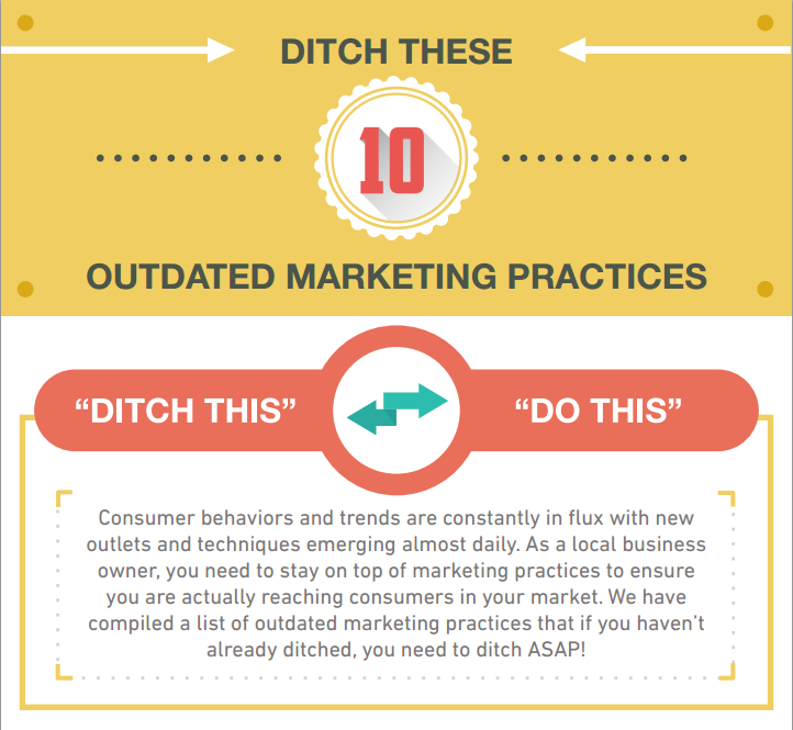 Ditch These 10 Outdated Marketing Practices