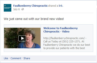 Faulkenberry Chiropractic Announced Video on Social Media