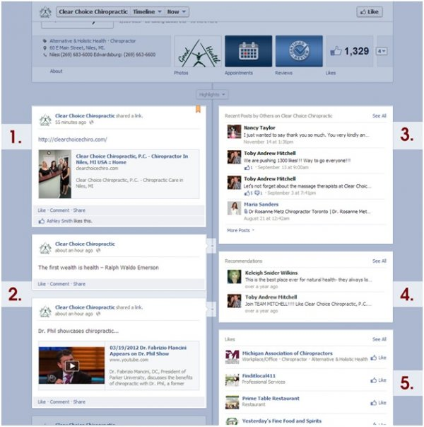 Facebook Timeline Features
