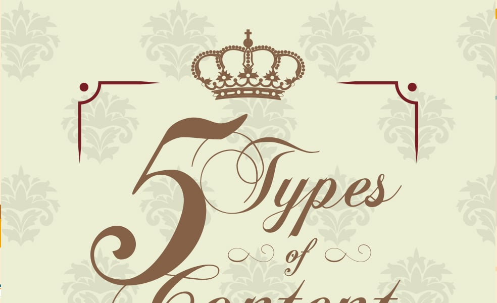 5 Types of Content To Get Better Engagement Infographic