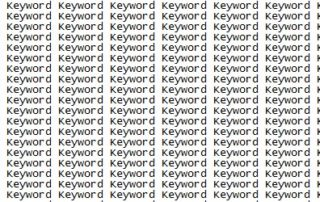 Avoid Keyword Stuffing