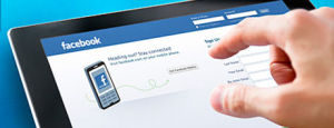 Tablet with Facebook